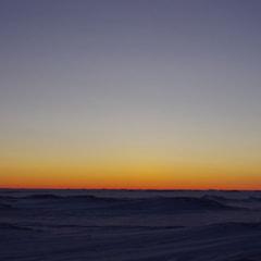 極夜の寒い空