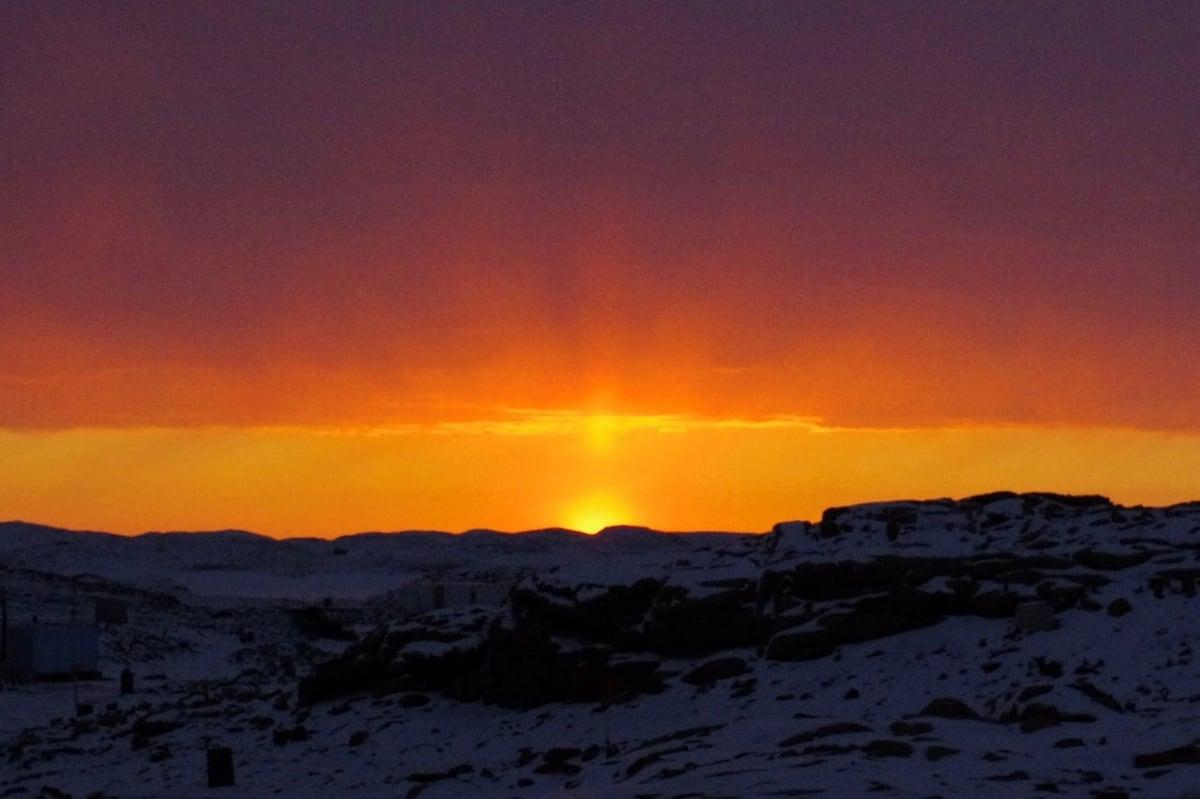 日没直後に輝く空