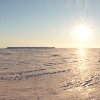 白夜の氷海